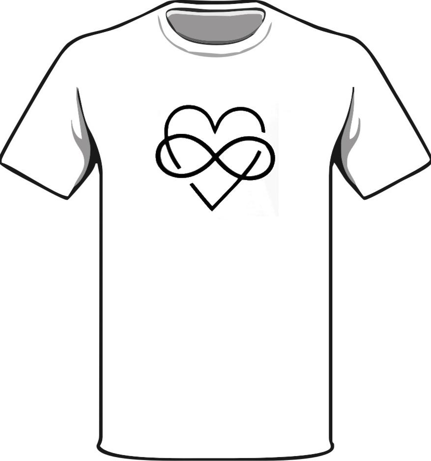 92c4fea6c826 T-shirt Disegno del cuore e segno infinito. Sales price 12,99 €